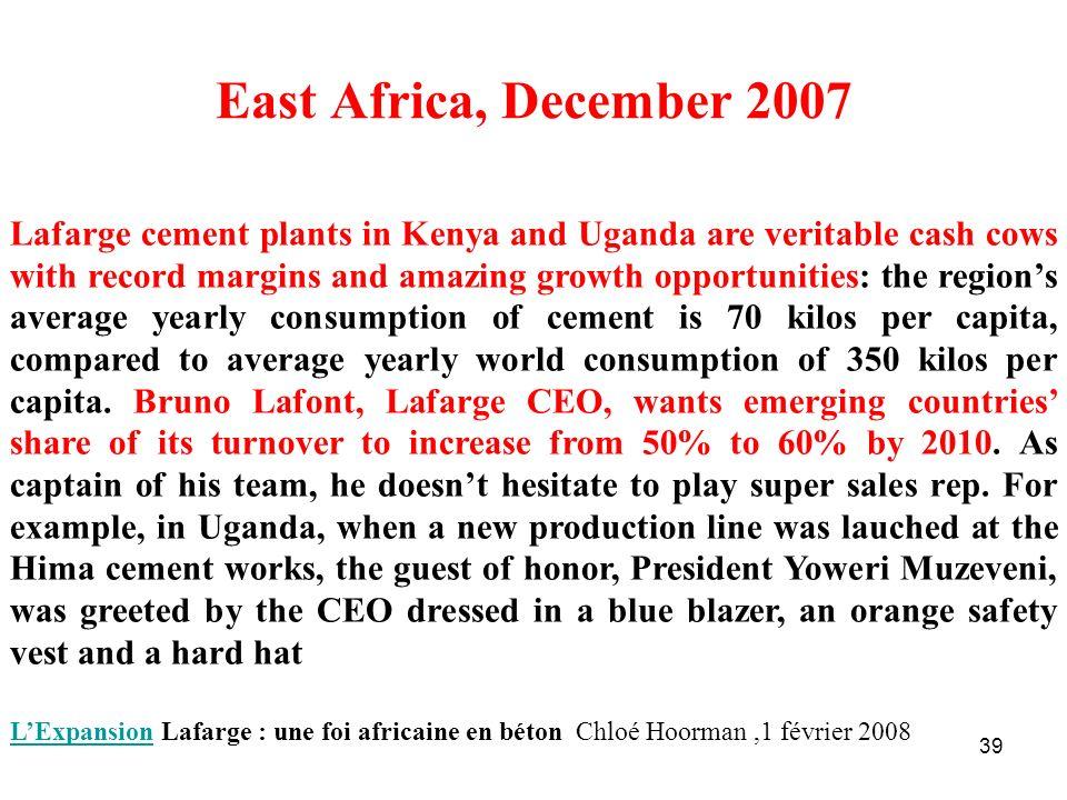 East Africa, December 2007