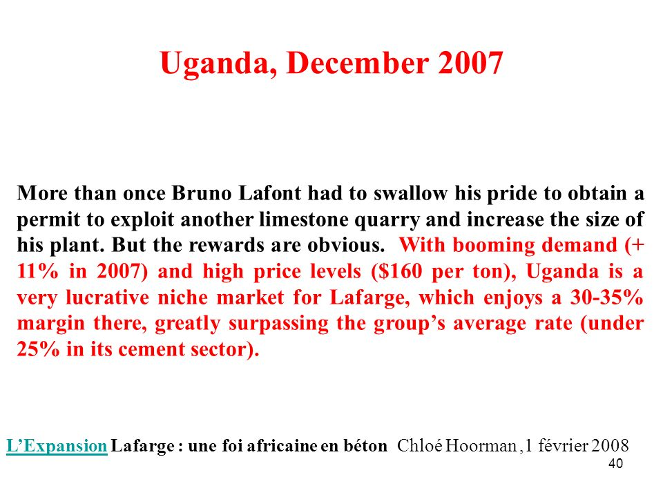 Uganda, December 2007