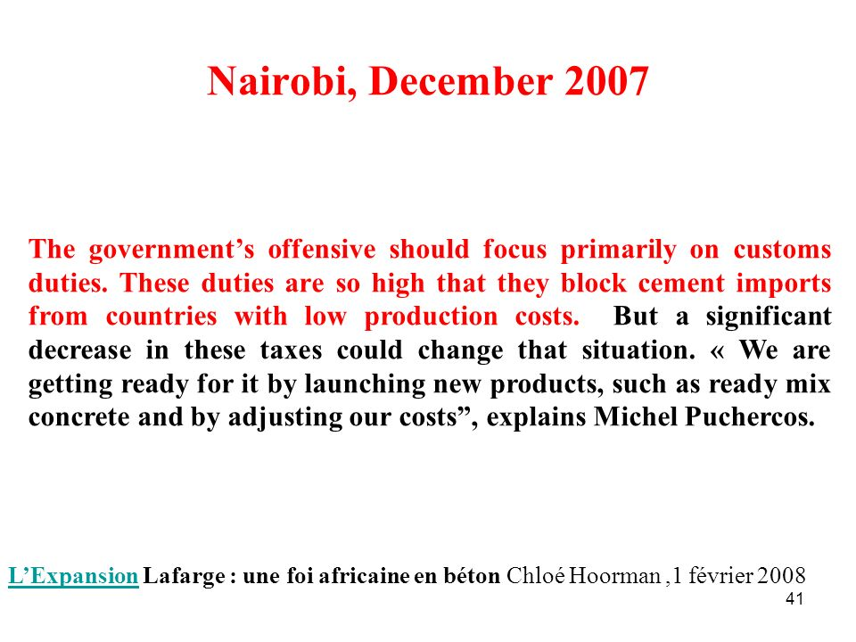 Nairobi, December 2007