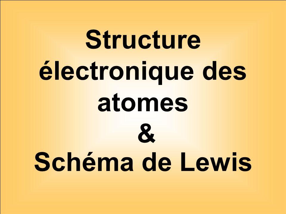 Structure électronique des atomes & Schéma de Lewis