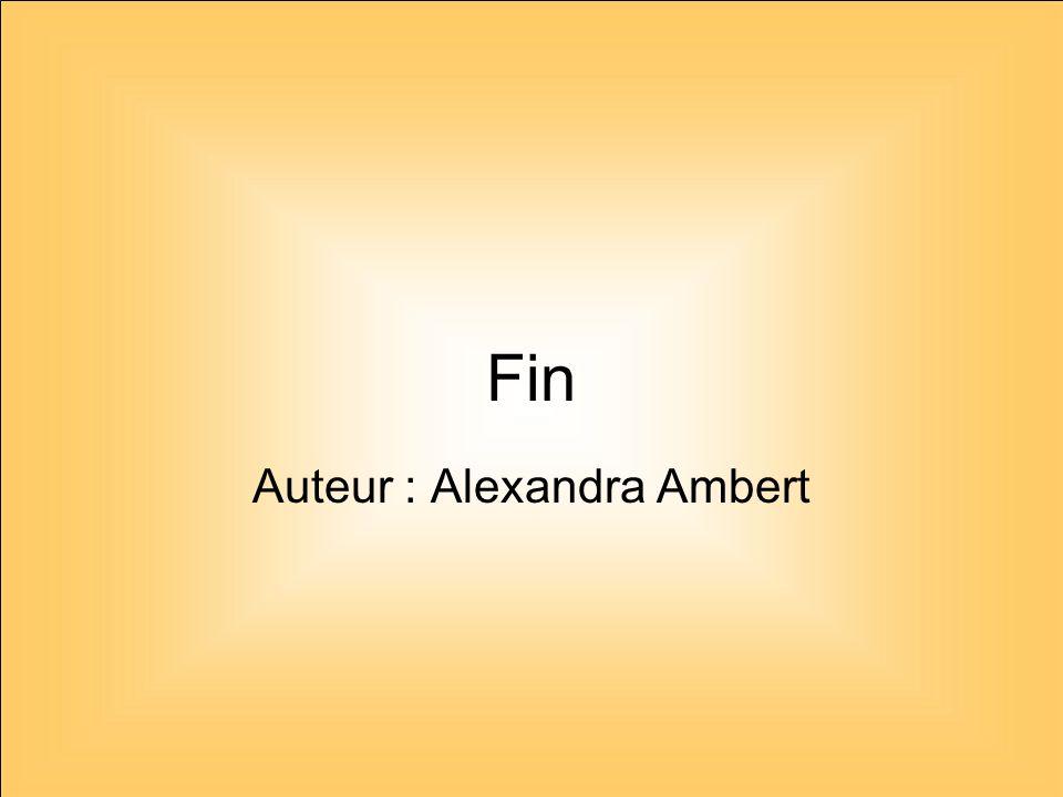 Auteur : Alexandra Ambert
