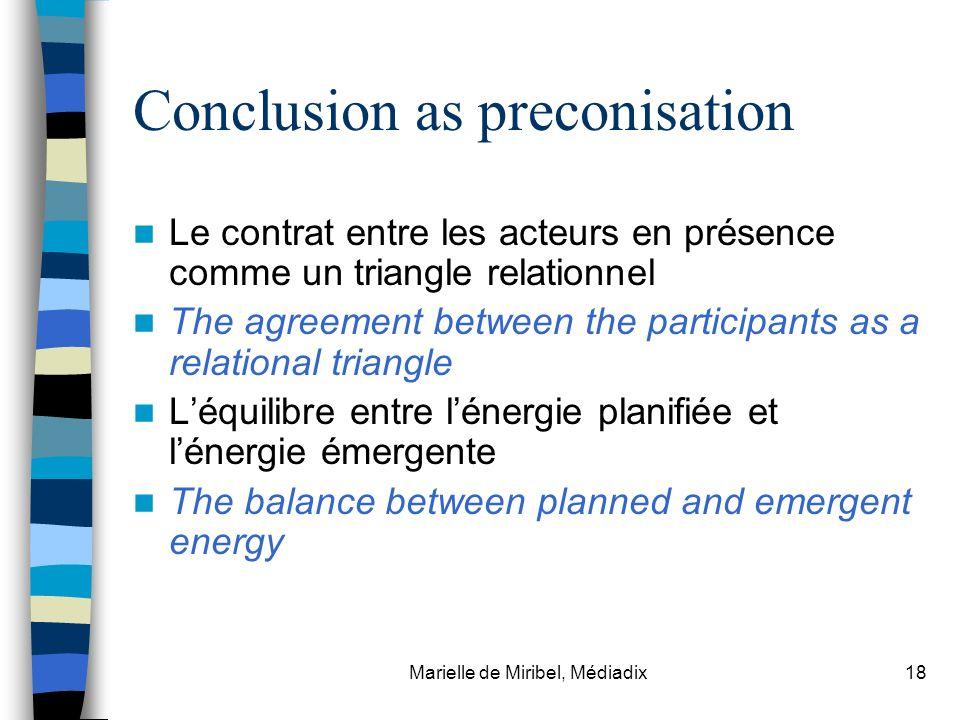 Conclusion as preconisation