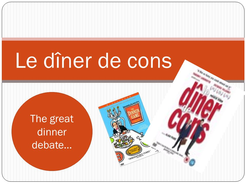 The great dinner debate…
