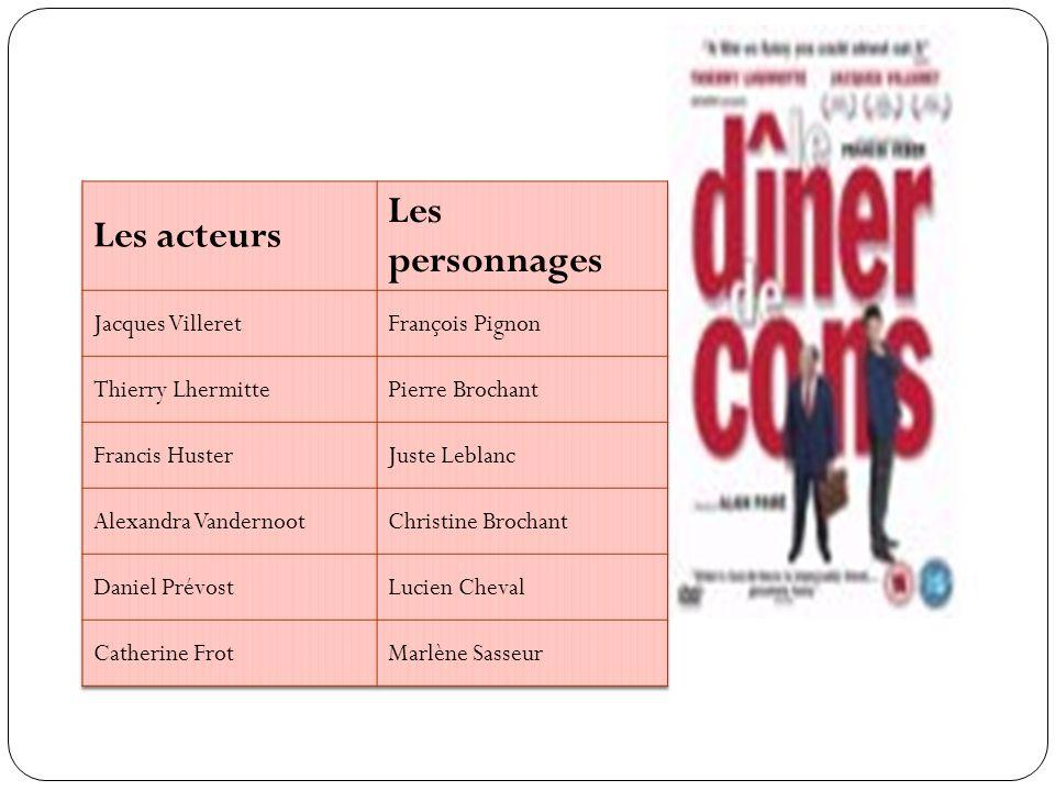 Les personnages Les acteurs Jacques Villeret François Pignon