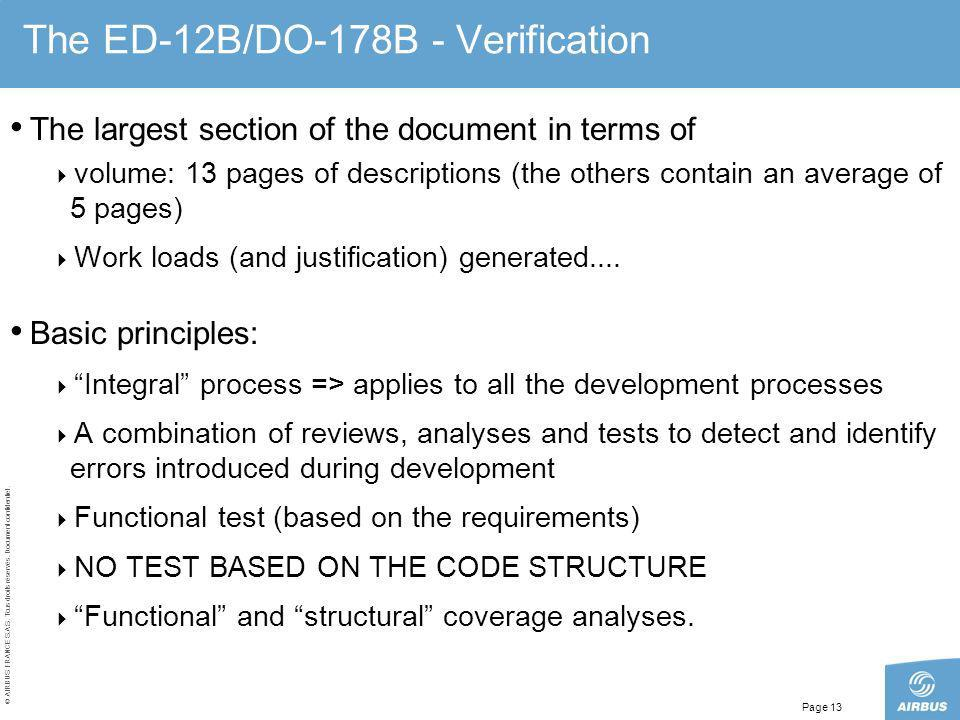 The ED-12B/DO-178B - Verification