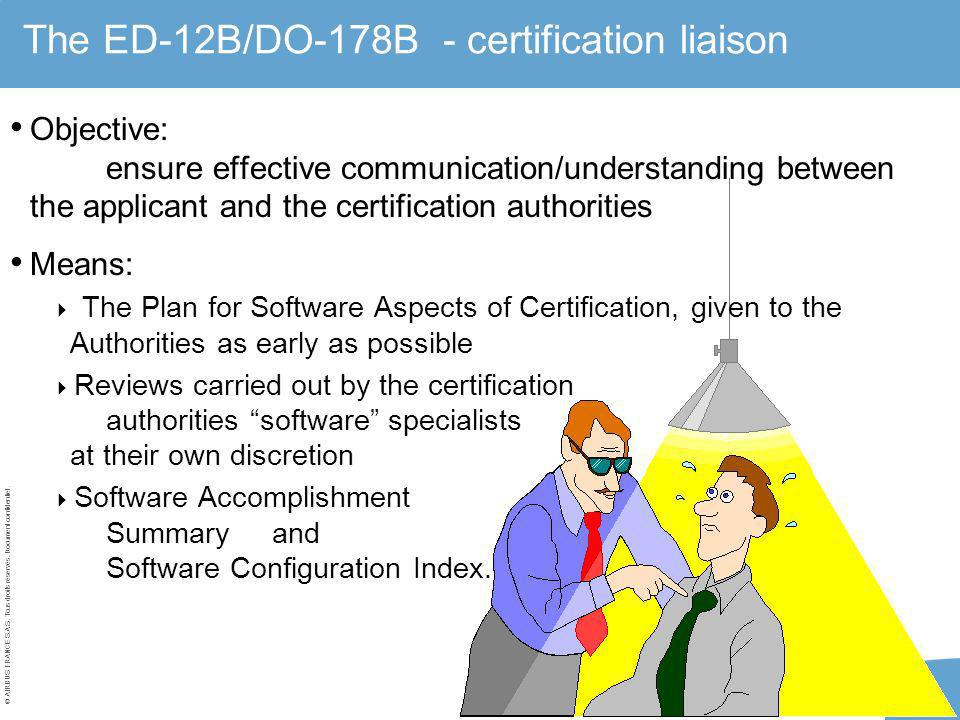 The ED-12B/DO-178B - certification liaison