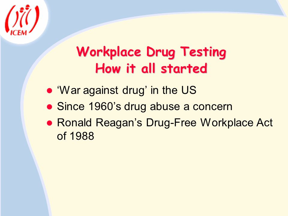 Workplace Drug Testing