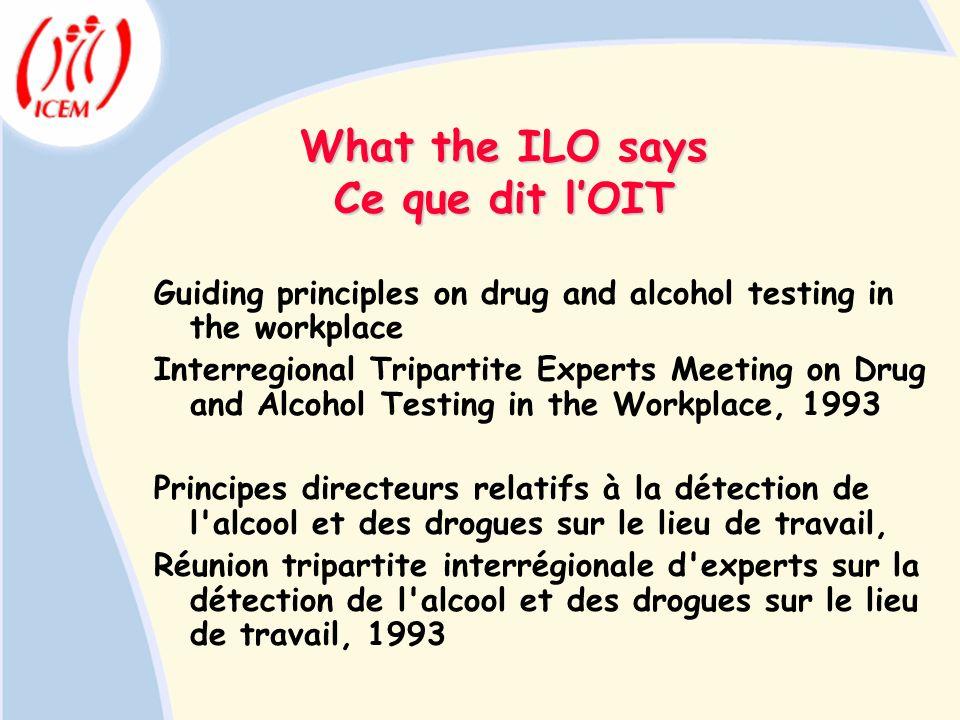 What the ILO says Ce que dit l'OIT