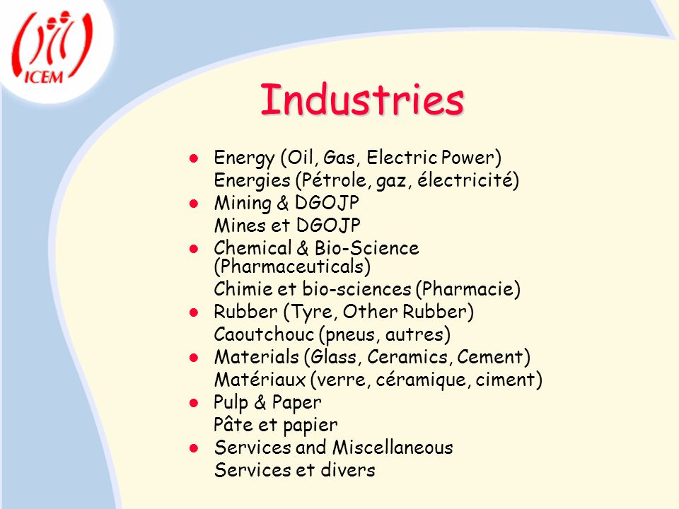 Industries Energy (Oil, Gas, Electric Power)