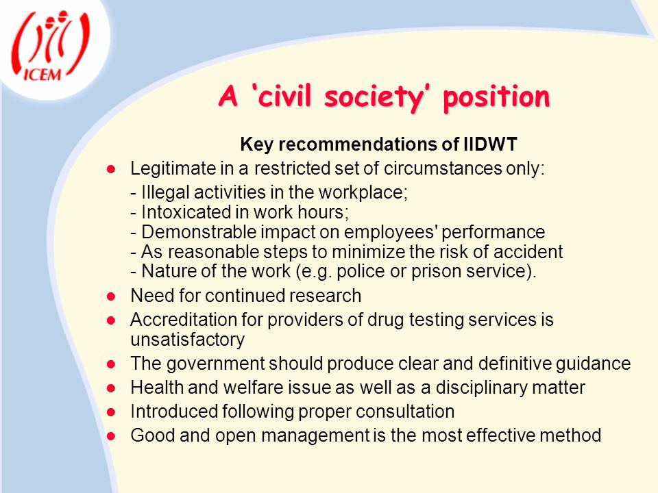 A 'civil society' position