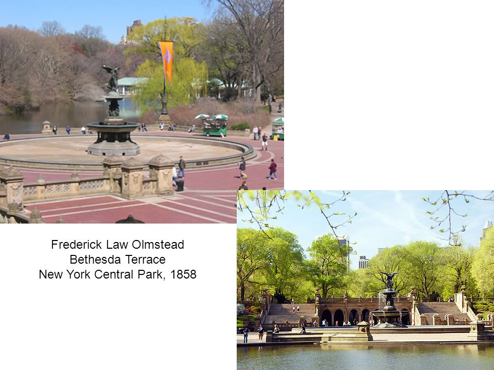 Frederick Law Olmstead Bethesda Terrace New York Central Park, 1858