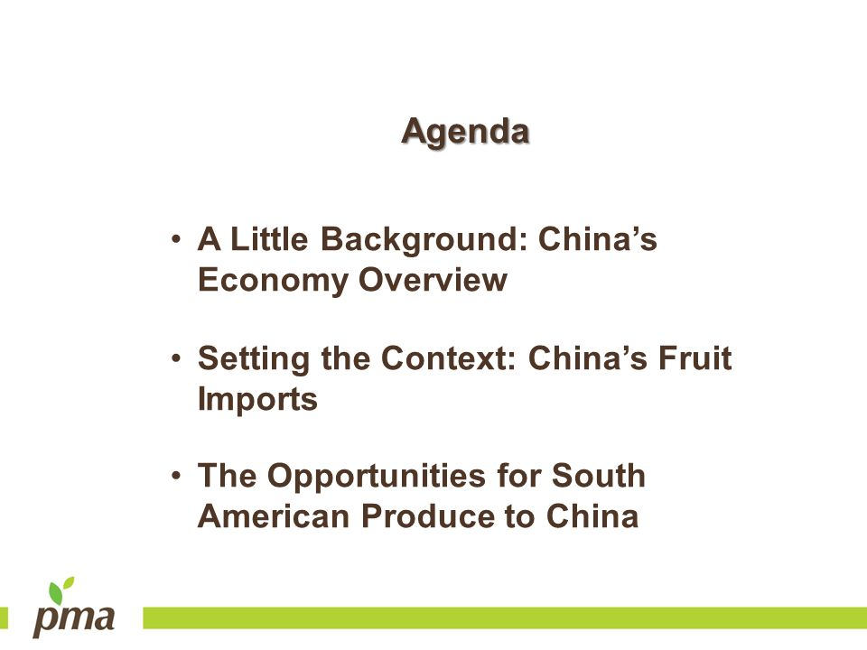 Agenda A Little Background: China's Economy Overview