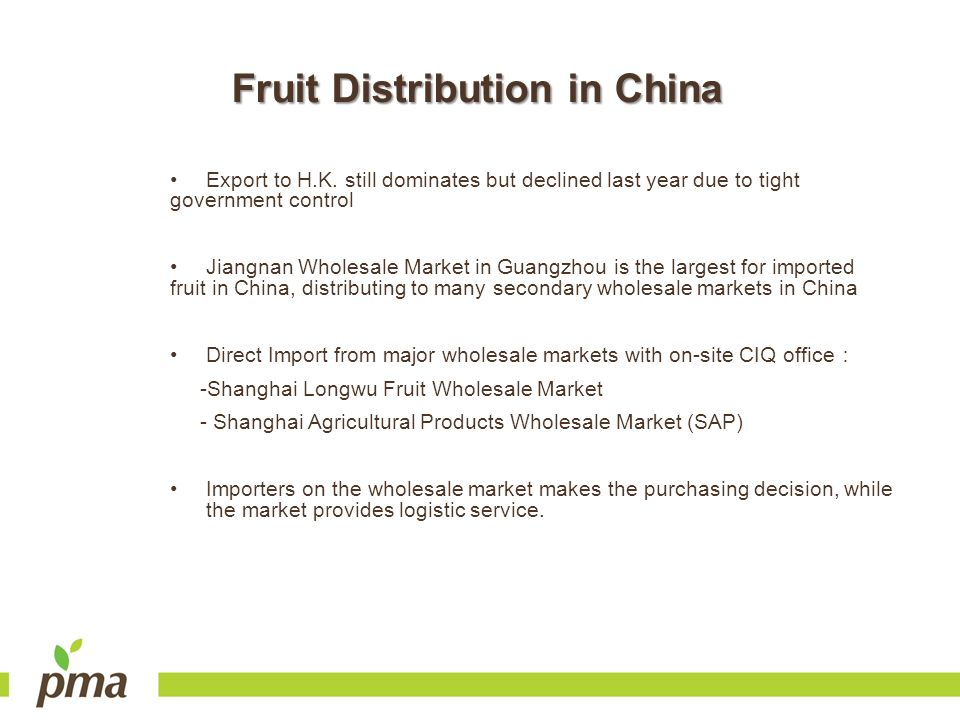 Fruit Distribution in China