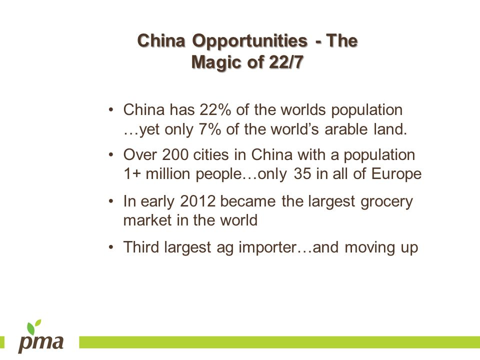 China Opportunities - The Magic of 22/7