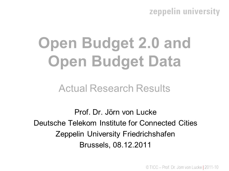 Open Budget 2.0 and Open Budget Data Actual Research Results