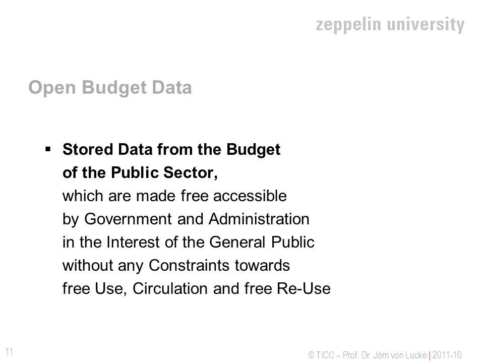Open Budget Data