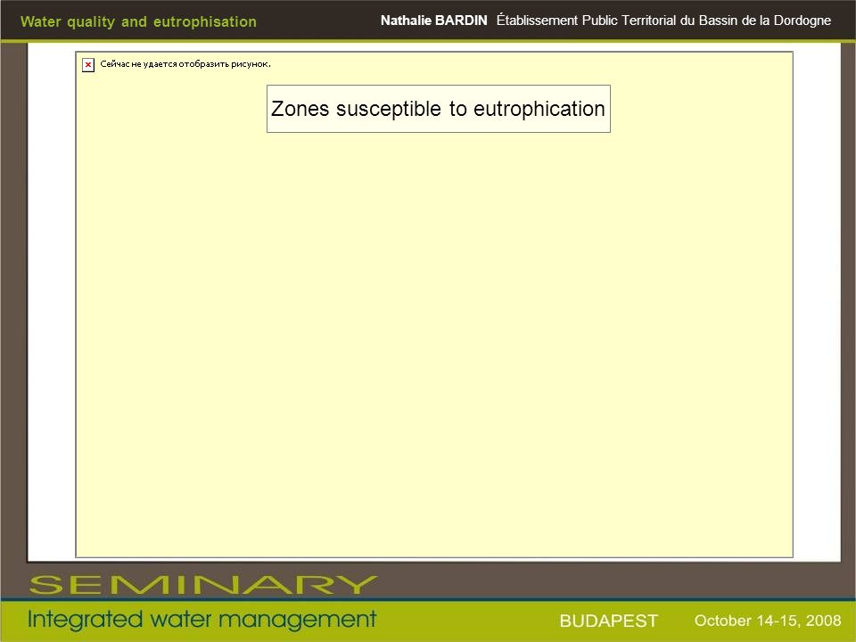 Zones susceptible to eutrophication