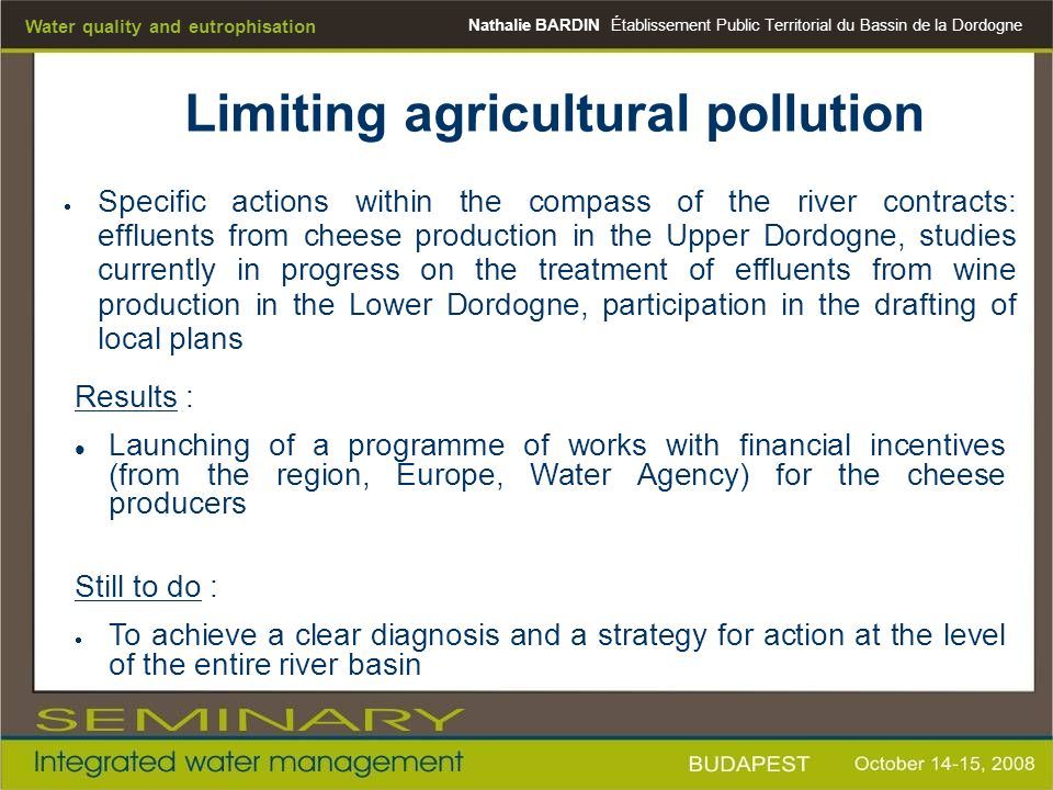 Limiting agricultural pollution