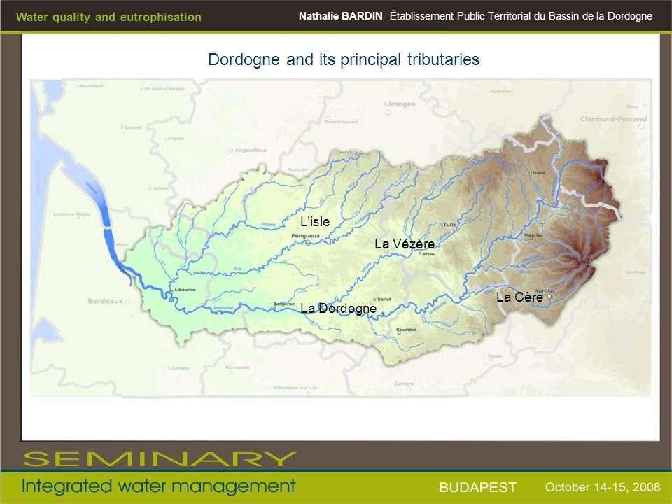Dordogne and its principal tributaries