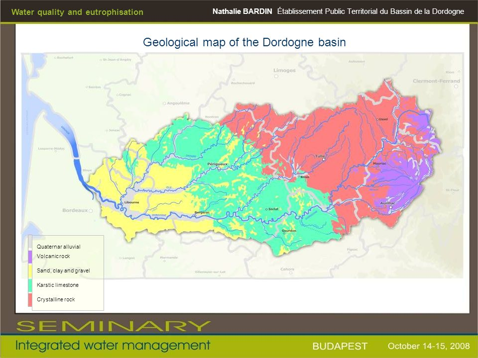 Geological map of the Dordogne basin