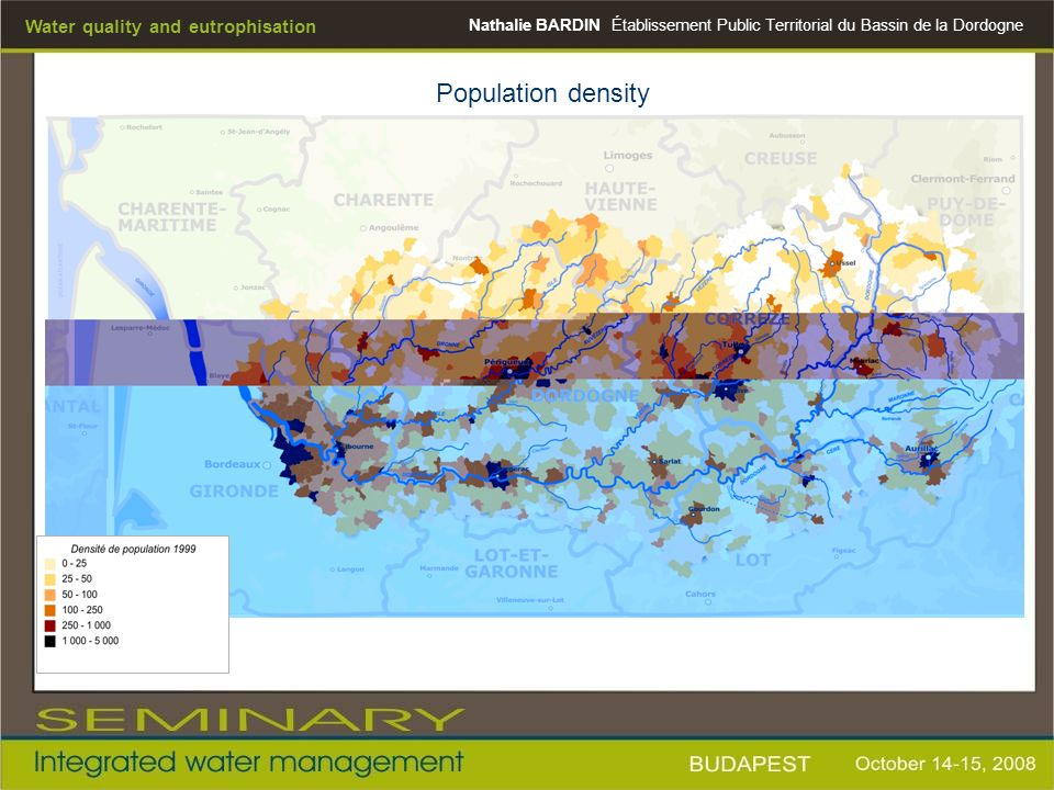 Population density Water quality and eutrophisation Nathalie BARDIN