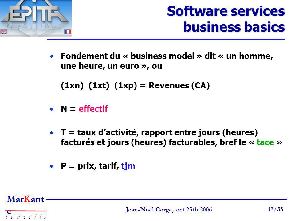 Software services business basics