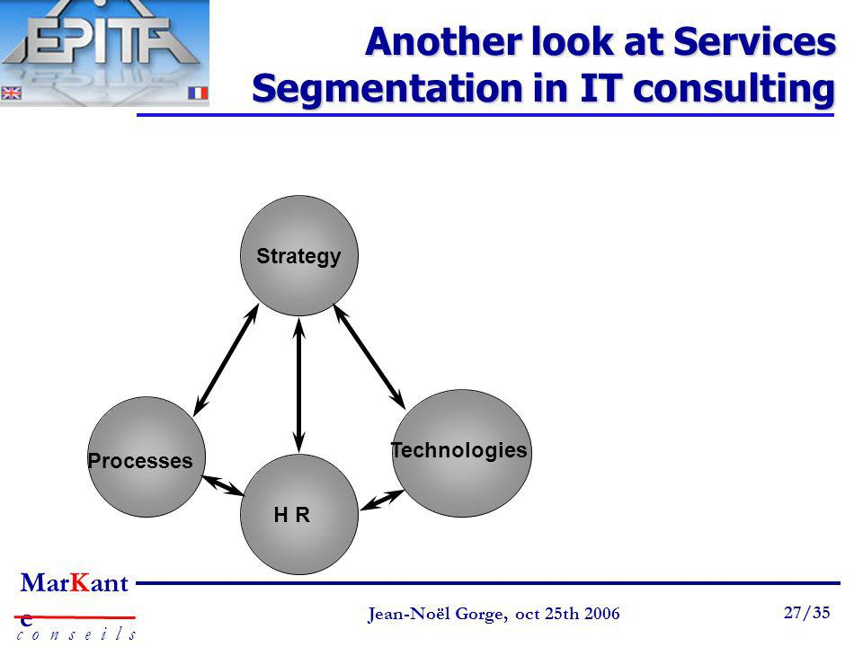 Another look at Services Segmentation in IT consulting