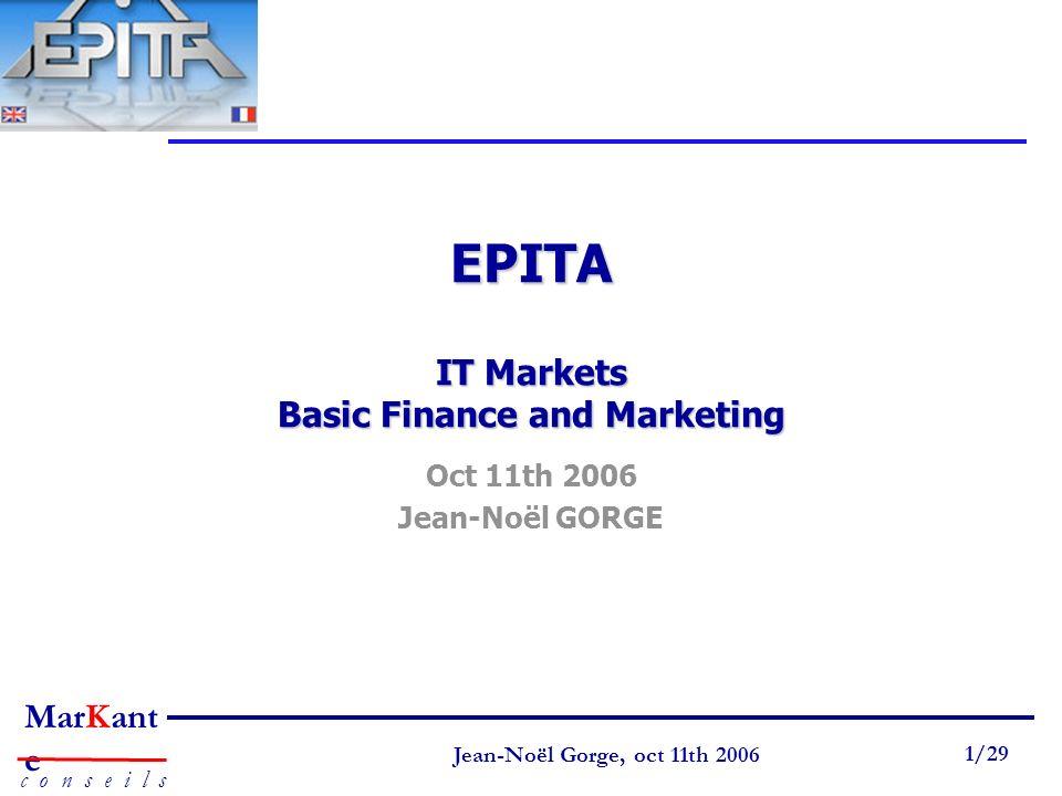 EPITA IT Markets Basic Finance and Marketing