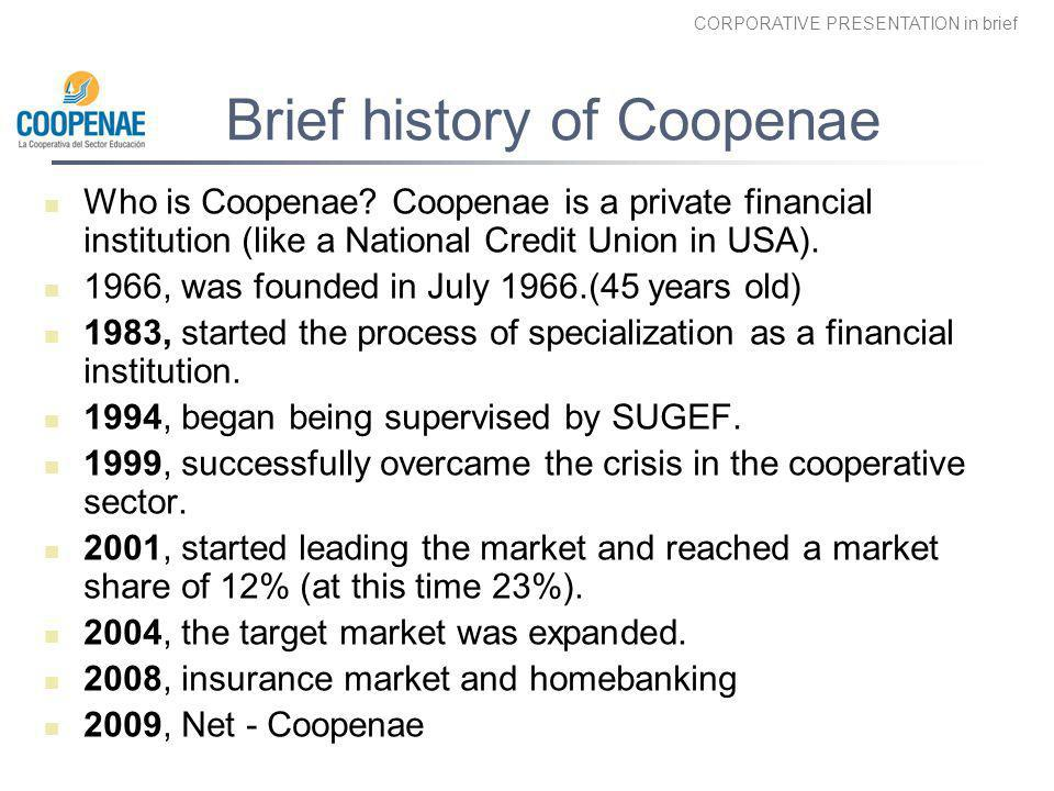 Brief history of Coopenae
