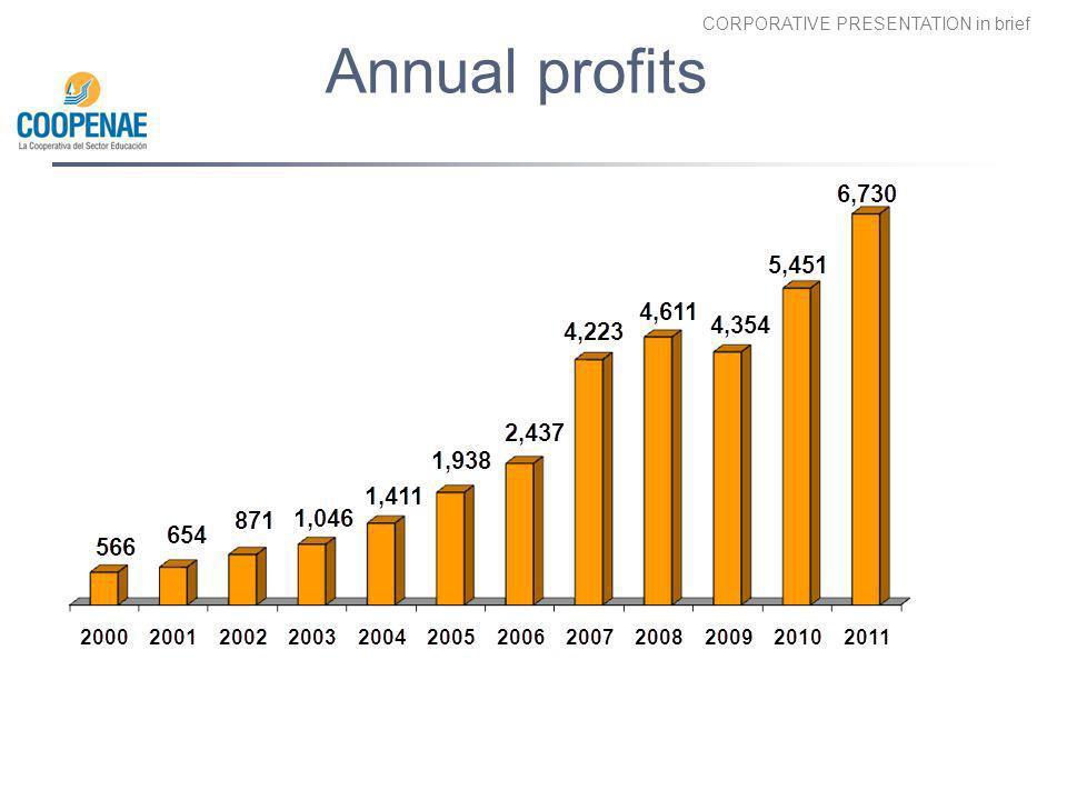 Annual profits