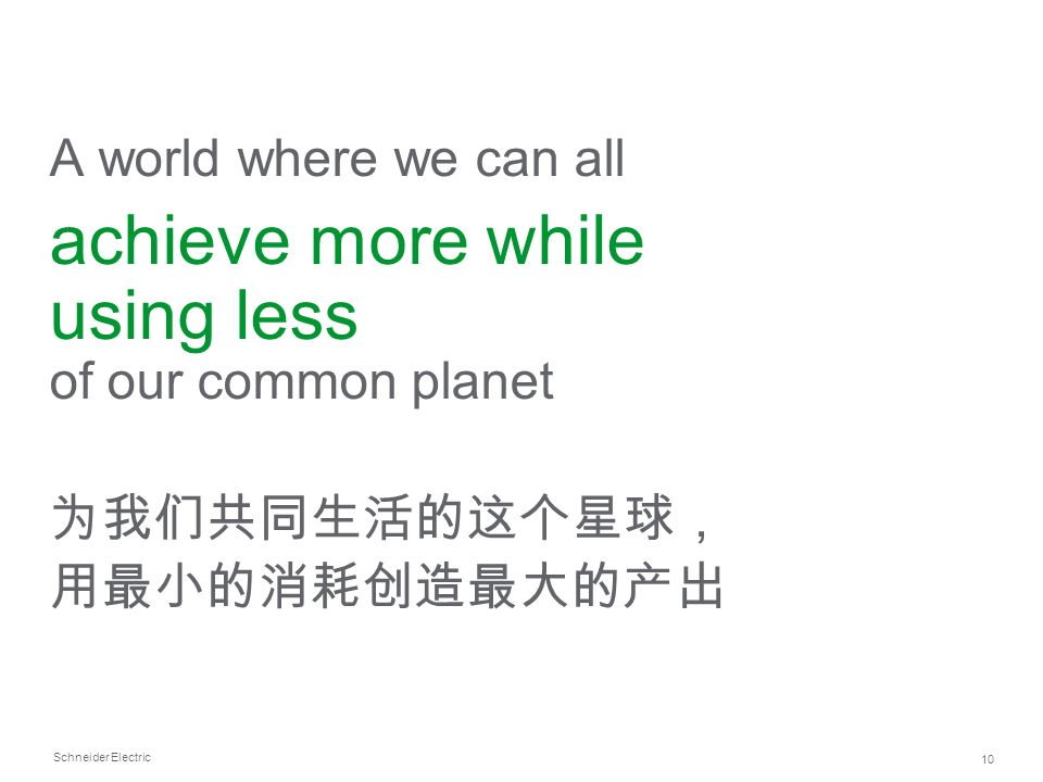 achieve more while using less of our common planet