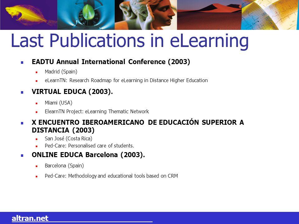 Last Publications in eLearning