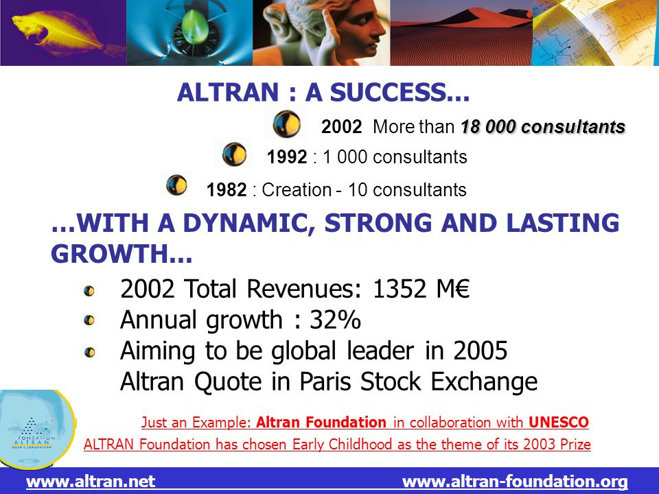 …WITH A DYNAMIC, STRONG AND LASTING GROWTH...