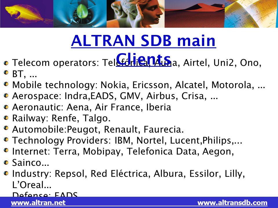 ALTRAN SDB main Clients