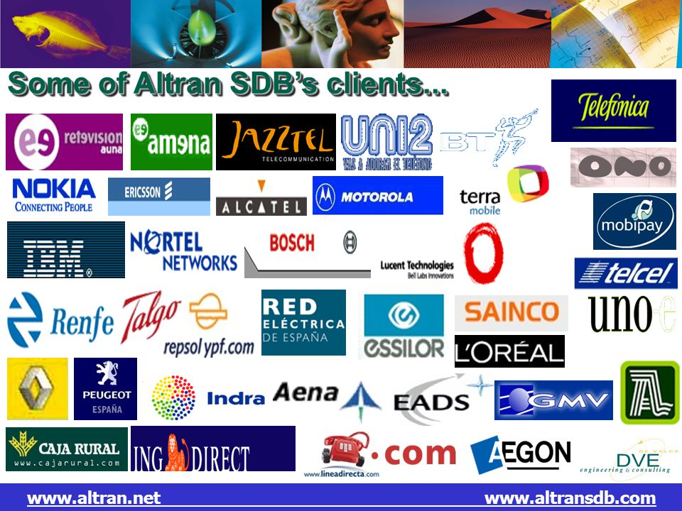 Some of Altran SDB's clients...