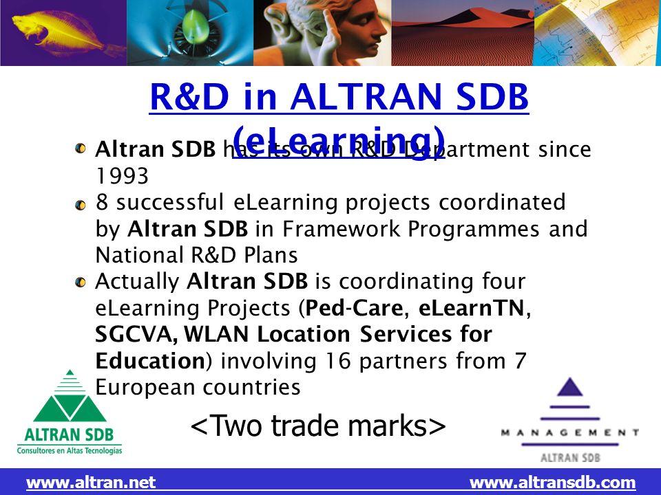 R&D in ALTRAN SDB (eLearning)