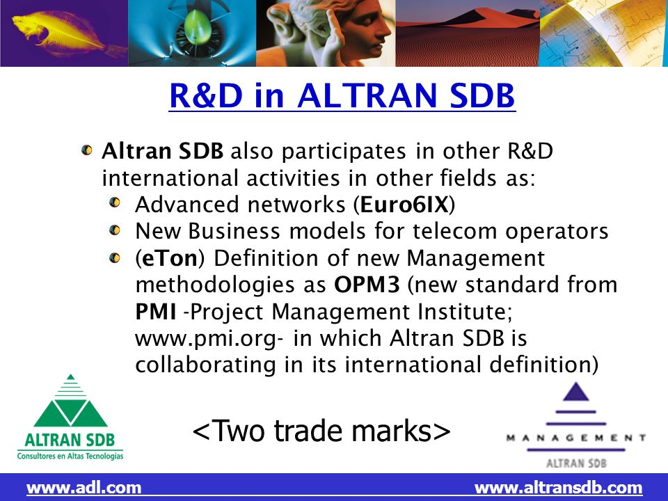 R&D in ALTRAN SDB <Two trade marks>