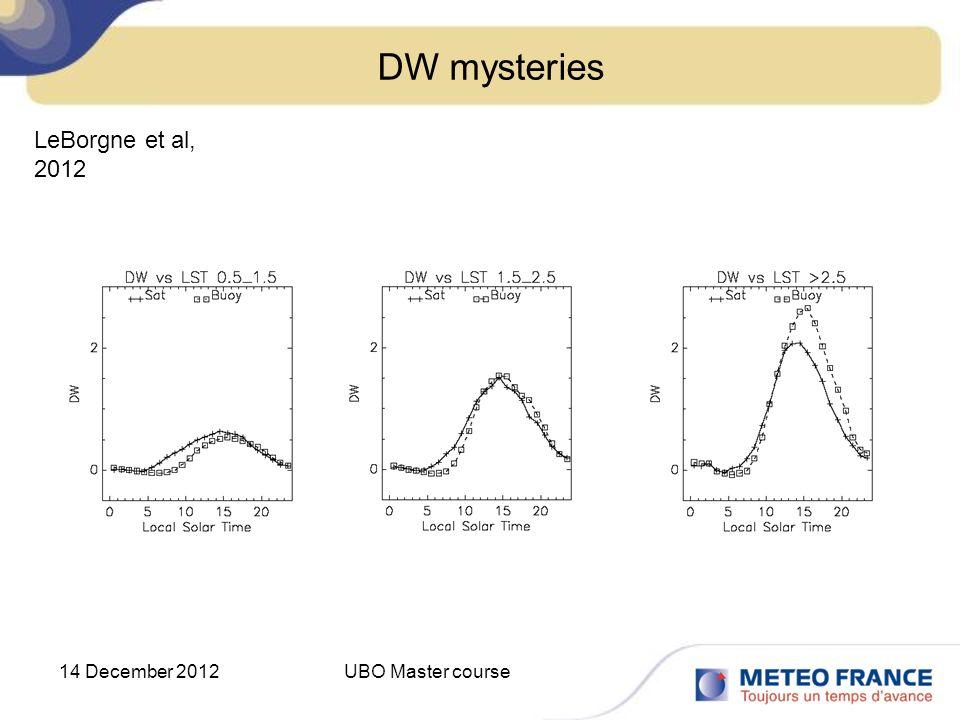 DW mysteries LeBorgne et al, 2012 14 December 2012 UBO Master course
