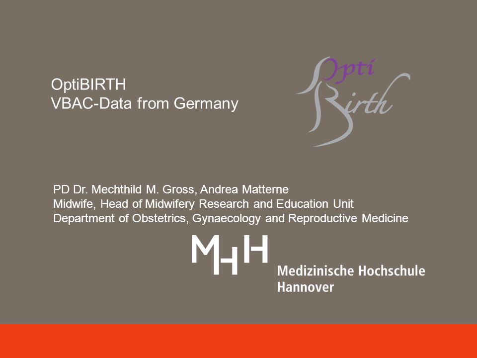 OptiBIRTH VBAC-Data from Germany