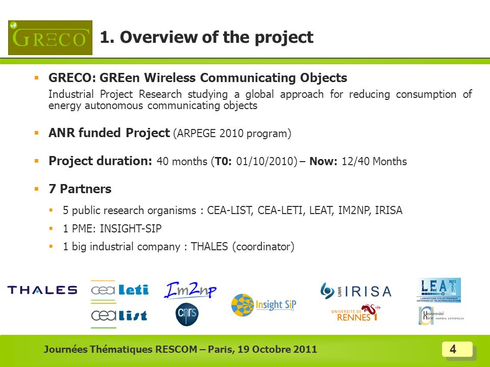 1. Overview of the project