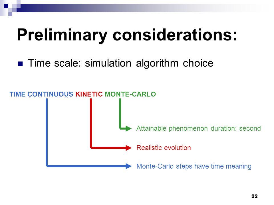 Preliminary considerations: