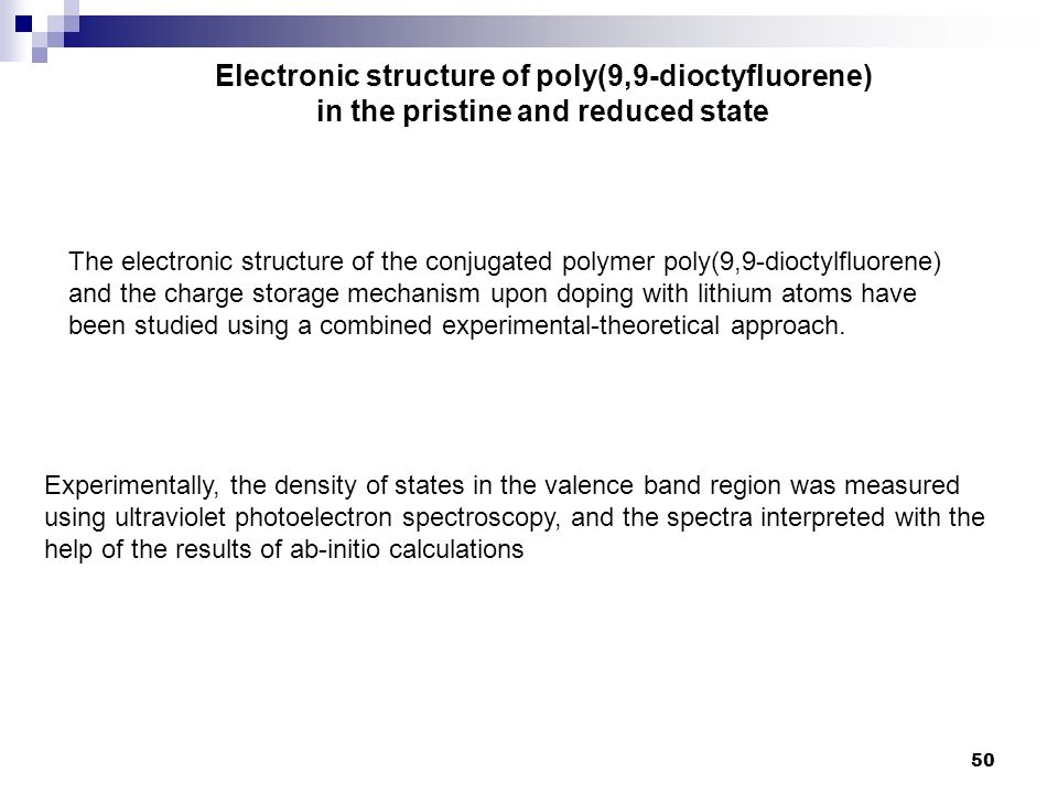 Electronic structure of poly(9,9-dioctyfluorene)