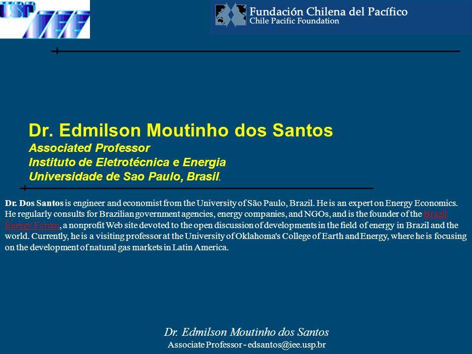 Dr. Edmilson Moutinho dos Santos Associated Professor Instituto de Eletrotécnica e Energia Universidade de Sao Paulo, Brasil.