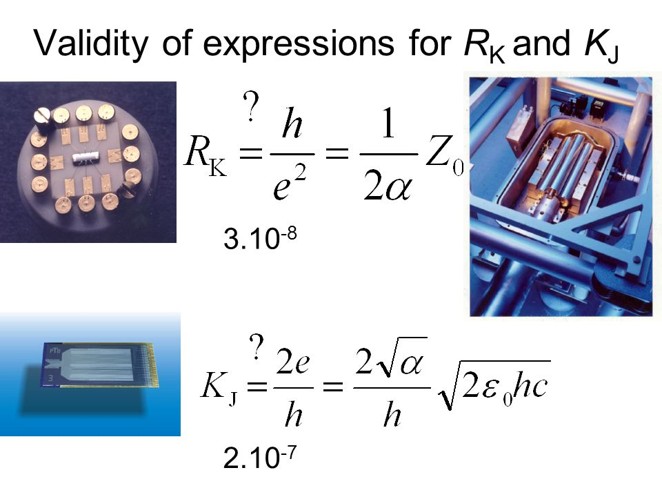 Validity of expressions for RK and KJ