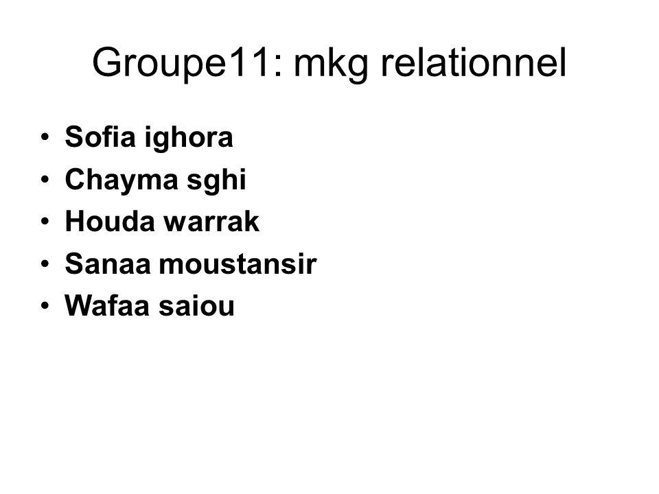 Groupe11: mkg relationnel
