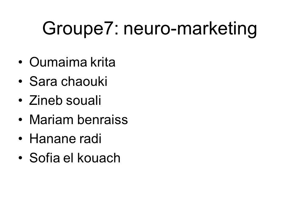 Groupe7: neuro-marketing