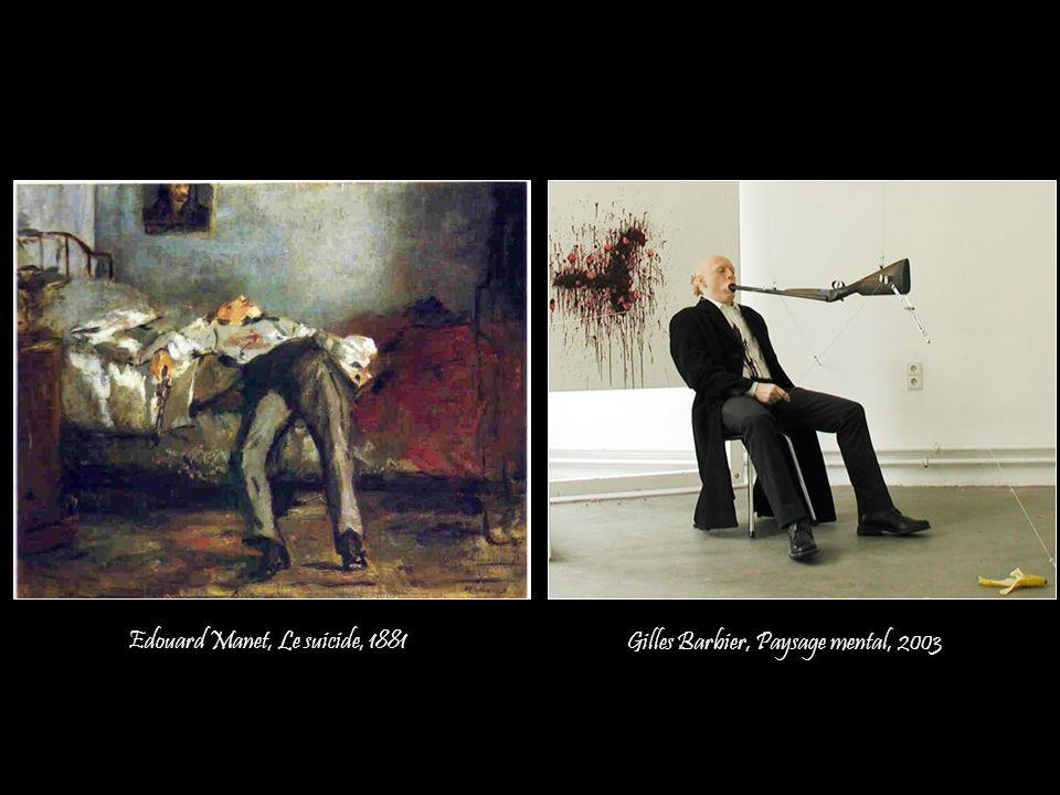 Edouard Manet, Le suicide, 1881 Gilles Barbier, Paysage mental, 2003