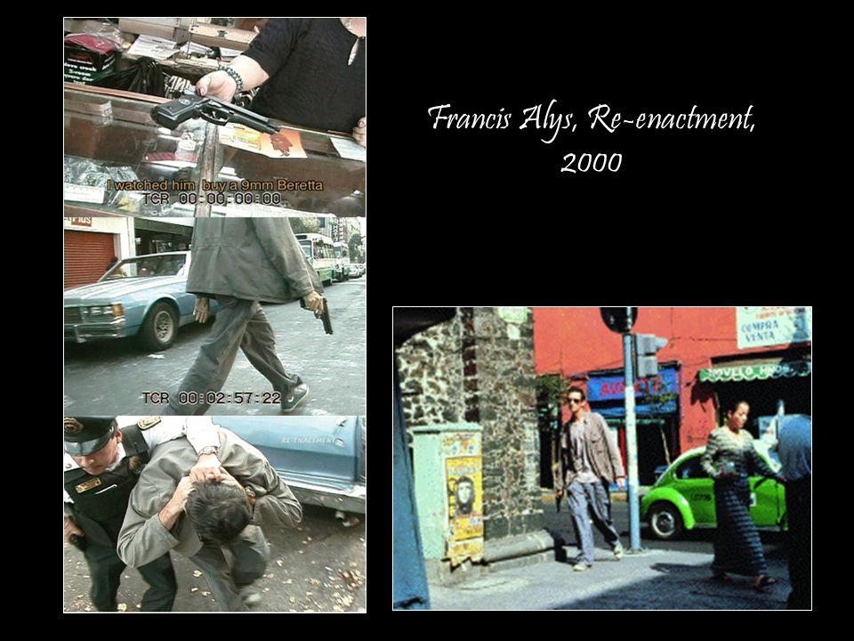 Francis Alys, Re-enactment, 2000