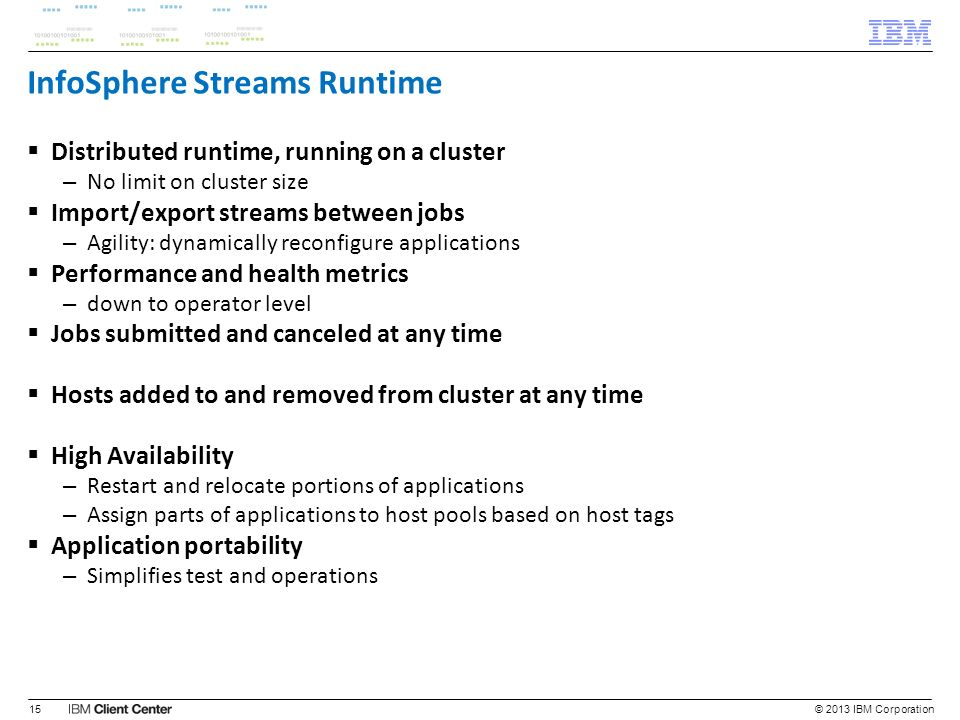 InfoSphere Streams Runtime