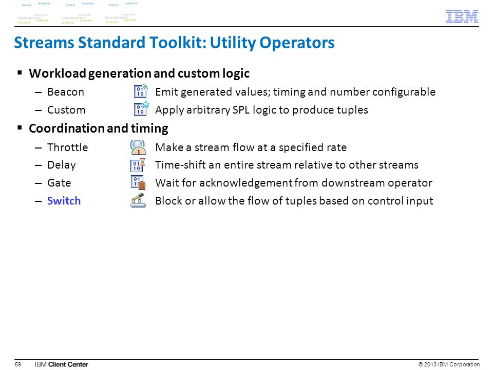 Streams Standard Toolkit: Utility Operators